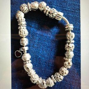 Auth Sea Shell Sterling Silver Pandora Bracelet